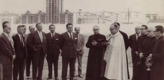 Hoy hace 56 años. Bendición del campo del Triana Balompié.
