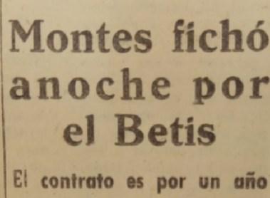 Hoy hace 65 años. Fichaje de Enrique Montes.