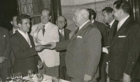 El Betis en el Ayuntamiento 1958