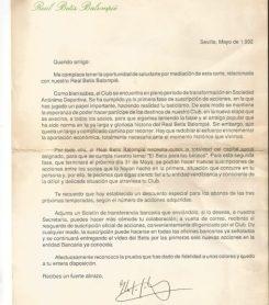 Carta accionariado 1992