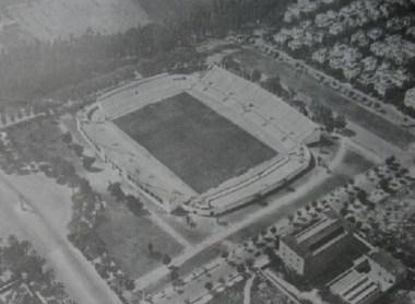 Vista aérea del Villamarín 1970