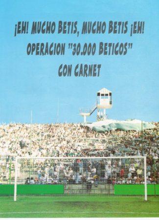 Campaña de socios temporada 1994-95.