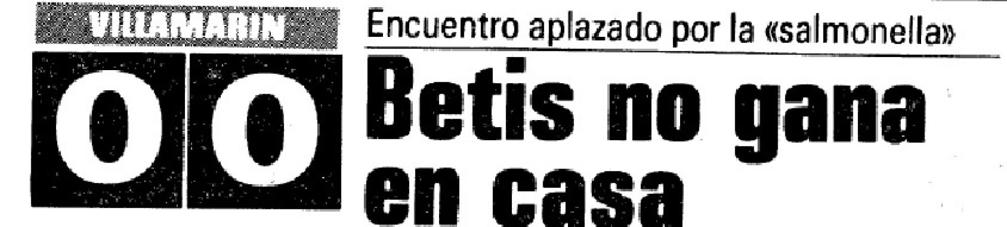 Hoy hace 35 años. Betis 0 Valencia 0.