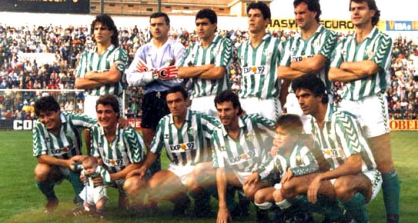 Alineación Betis-Logroñés Liga 1987.