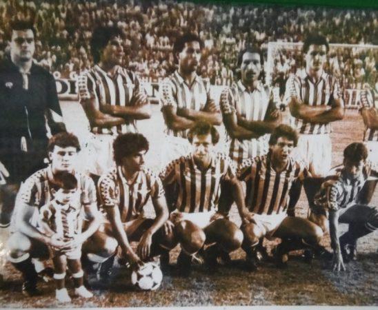 Alineación Betis-Sporting Liga 1985.