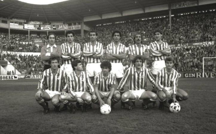 Alineación Osasuna-Betis Liga 1984.