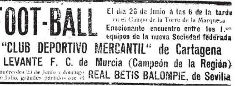 Hoy hace 100 años. Levante FC 1 Betis 4