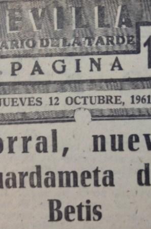 Hoy hace 60 años. Fichaje de José María Corral.