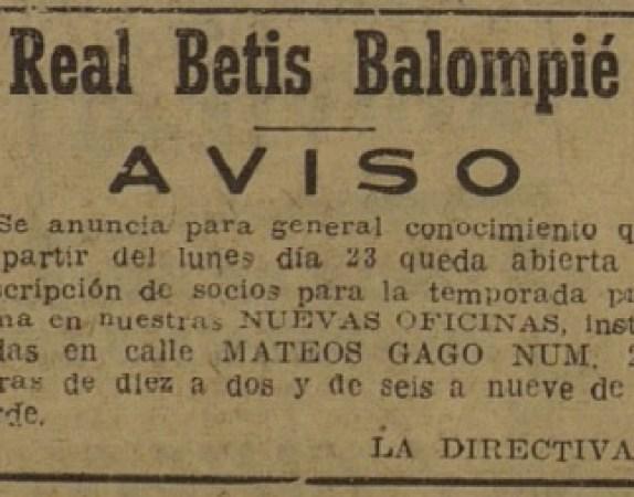 Nueva secretaría en Mateos Gago en 1951.