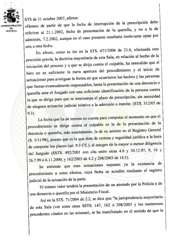 Página 6 del Auto de la Audiencia Provincia