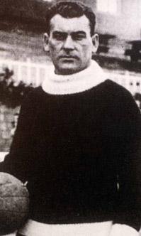 El guardameta húngaro Franz Platko