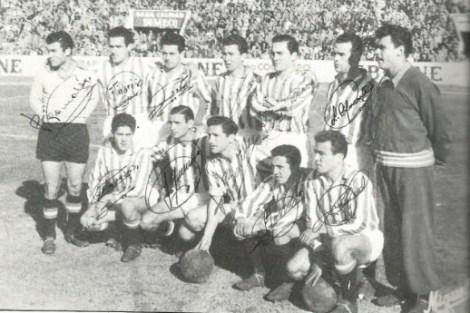Alineación del Betis en 1956