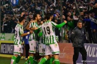 Celebracion del primer gol Ruben Castro (Betis - Tenerife 14/15)