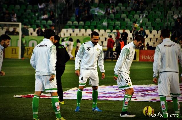 Calentamiento previo (Real Betis 2-1 Girona)