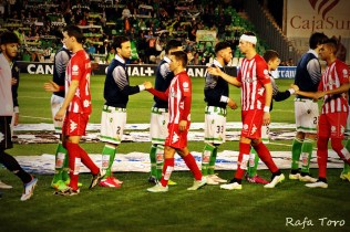 Salida al césped (Real Betis 2-1 Girona)