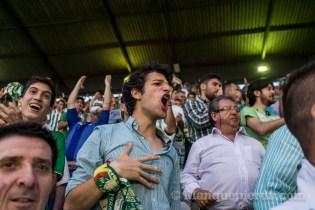 Celebración gol en el encuentro Betis - Alcorcón
