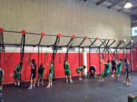 Las verdiblancas en el centro Indian CrossFit