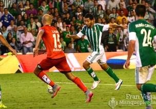 Disparo de Petros que acaba en gol (Betis-Deportivo 15/16)