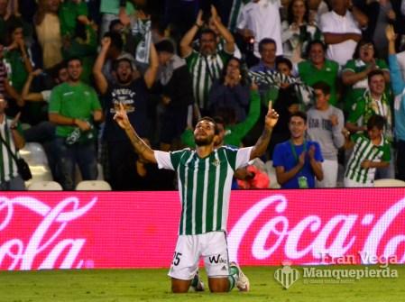 Celebracion de Petros (Betis-Deportivo 15/16)