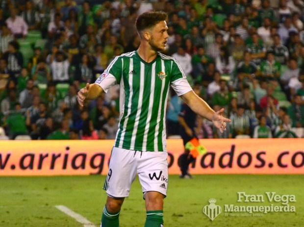 Ricky se lamenta de su fallo (Betis-Deportivo 15/16)