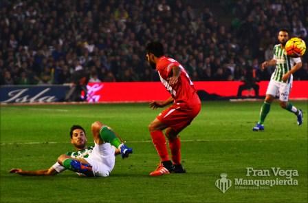 Cejudo desde el cesped (Betis-Sevilla 15/16)
