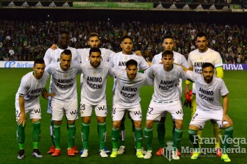 Alineación con animos a Piccini (Betis-Madrid 15/16)