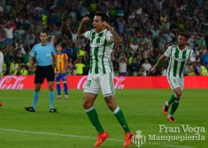 Tello celebrando el gol (Betis-Valencia 17-18)