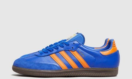 "adidas "" Dublin "" Samba – Blue / Orange"