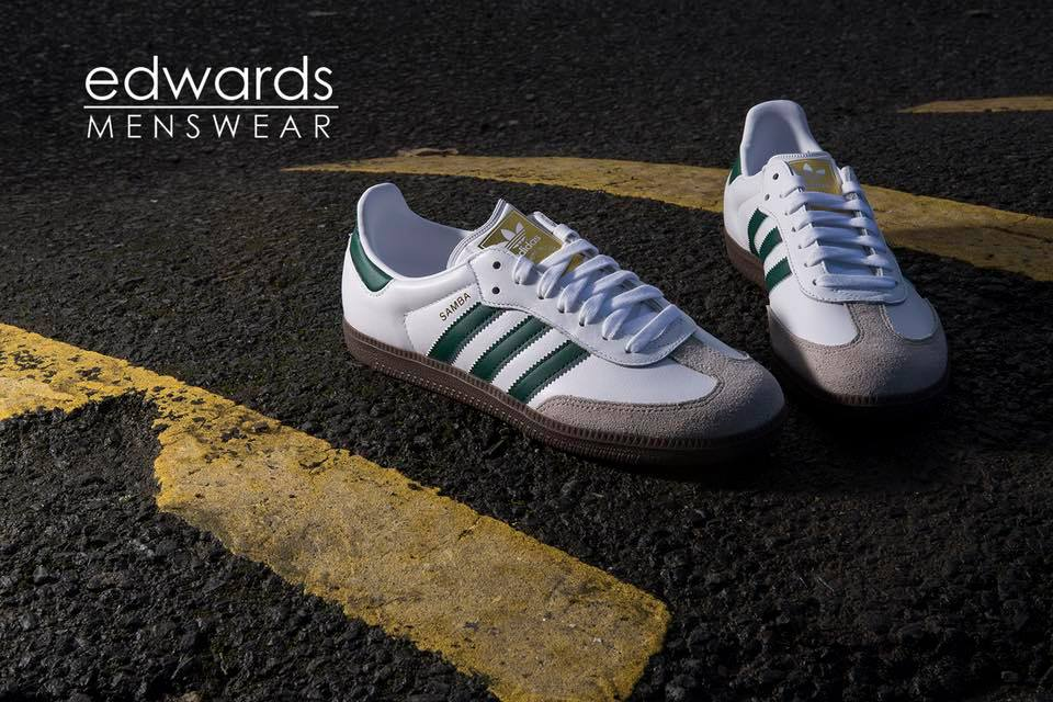 ff134170feac adidas Samba OG – White   Green   Gum – Save 10% and Free Delivery