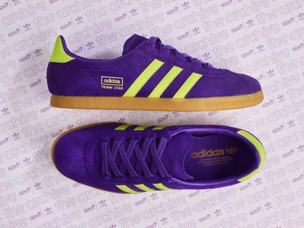 bd1b0ebd049 adidas Originals Trimm Star - Purple   Yellow - Release Information ...