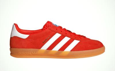 adidas Originals Gazelle Indoor, Red White Gum EE5731