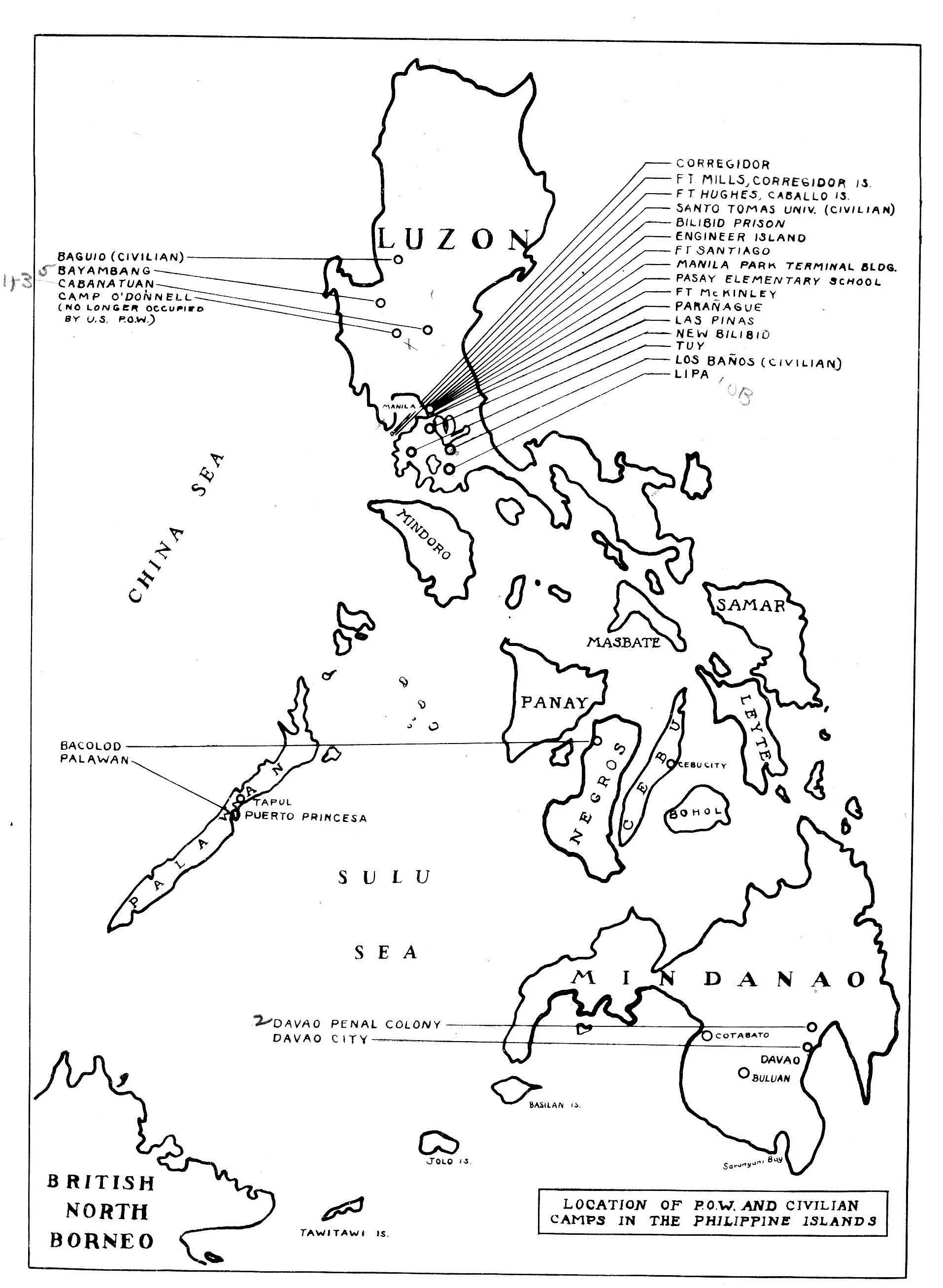 List Of Pow Camps In The Philippines