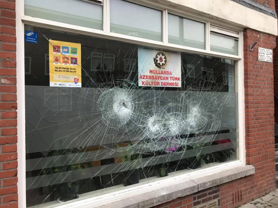 Den Haag Azerbaycan Türk Kültür Derneği'ne çirkin saldırı