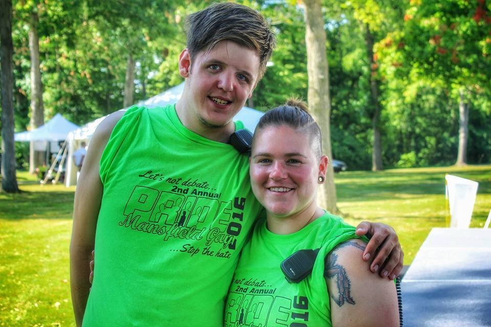 Volunteers at the 2nd Annual Mansfield Gay Pride Festival