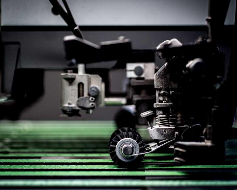 Image of printing machine part for magazine printers