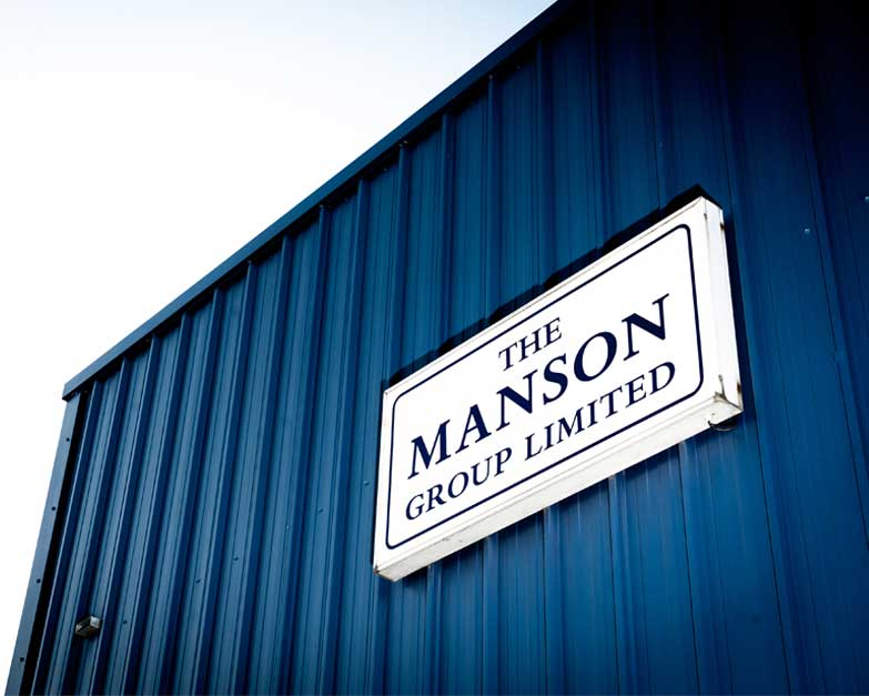 Image of The Manson Group printing company signage