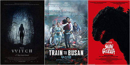 The Witch, Train To Busan, Shin Godzilla