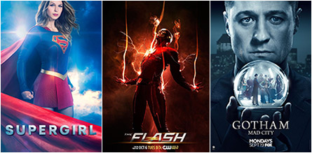 Supergirl, The Flash, Gotham