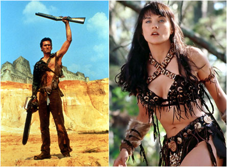 Bruce Campbell, Lucy Lawless