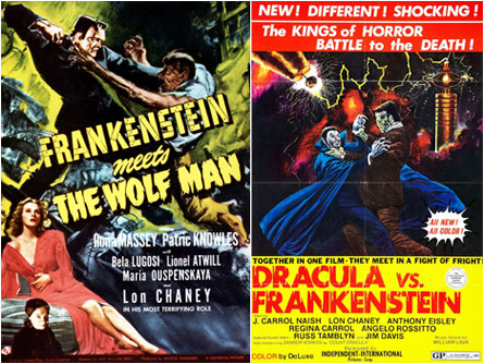 Frankenstein Meets The Wolf Man / Dracula vs. Frankenstein