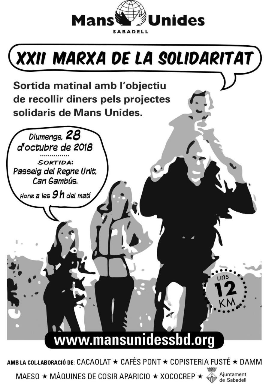 marxa de la solidaritat 2018 cartell