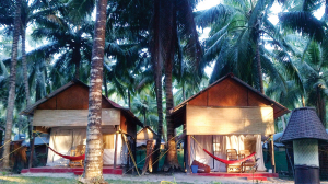 Modest and clean cabanas at Dive India