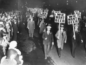A protest march against Prohibition in Newark, in 1931