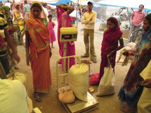 A wholesale market for mahua in Shahdol, MP