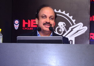 Mr Pankaj Munjal, MD Hero Cycles speaking at the launch of Hero MTB Himalaya