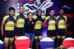 World renowned cyclist Sonia Lopez with Hero Action Team