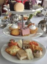 High tea at the Fairmont Banff Springs hotel