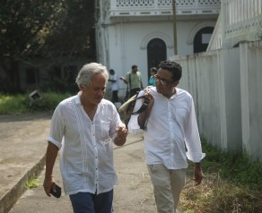 Sir Anish Kapoor with curator Jitish Kallat