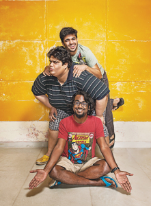 Rohan Joshi (top), Tanmay Bhat and Ashish Shakya are three-fourth of All India Bakchod
