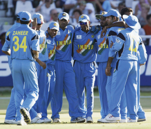 The famous huddle of 2003